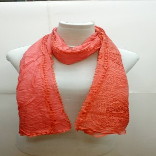 Premium Ari Diamond Lace Stole- Orange